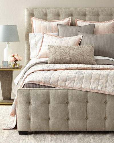 Modern Padded Throw  Pink Pattern and Matching Items