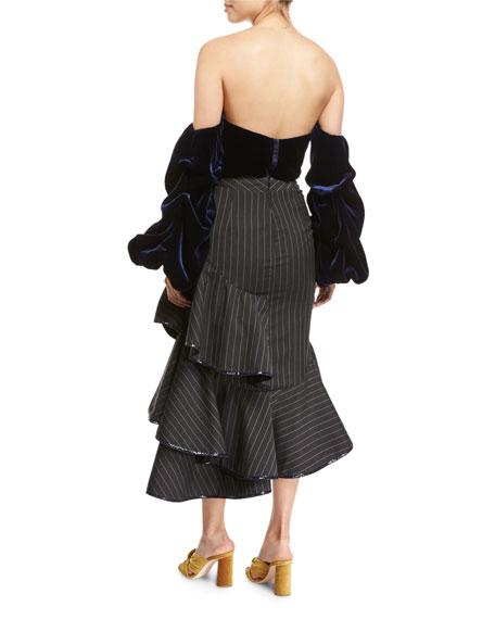 Nikki Velvet Off-the-Shoulder Bodysuit