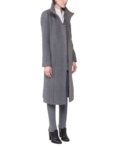 Long Wool-Blend Coat and Matching Items