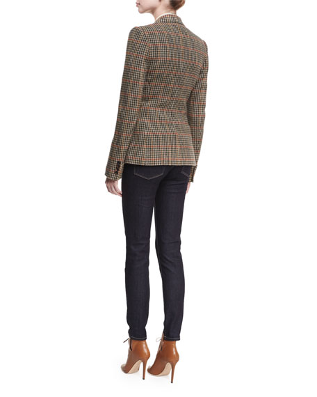 Haden Houndstooth Plaid Blazer