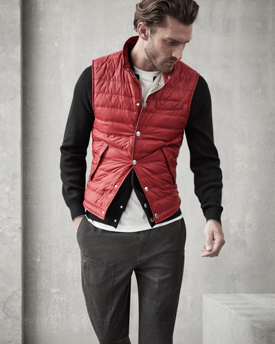 Quilted Nylon Snap Vest and Matching Items