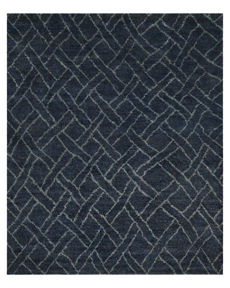 Fairfield Indigo Rug, 5' x 8'