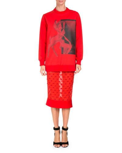 Bambi® Long Crewneck Sweatshirt, Red and Matching Items