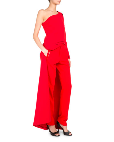 One-Shoulder Cady Floor-Length Top and Matching Items