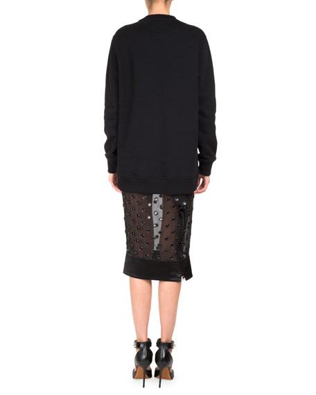 Bambi® Long Crewneck Sweatshirt, Black/White