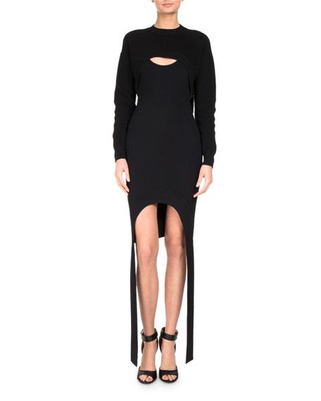 Sleeveless Honeycomb Fitted Dress