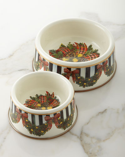 Evergreen Enamel Large Pet Dish and Matching Items