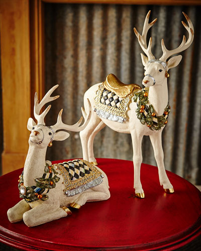 Resting Winter White Stag and Matching Items