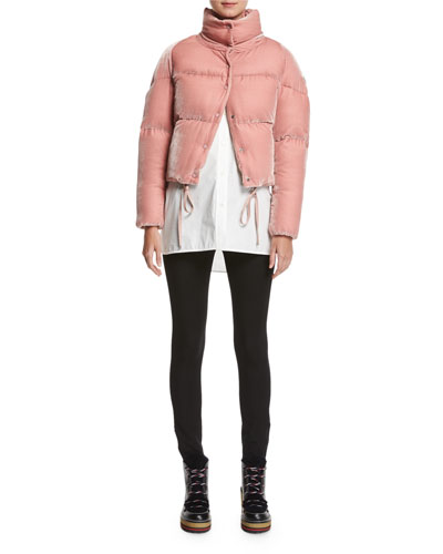 Cercis Cropped Velvet Puffer Coat and Matching Items