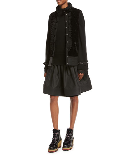 Marianne Mixed-Media Belted Jacket and Matching Items