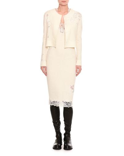Pashmina Lace-Inset Cardigan and Matching Items