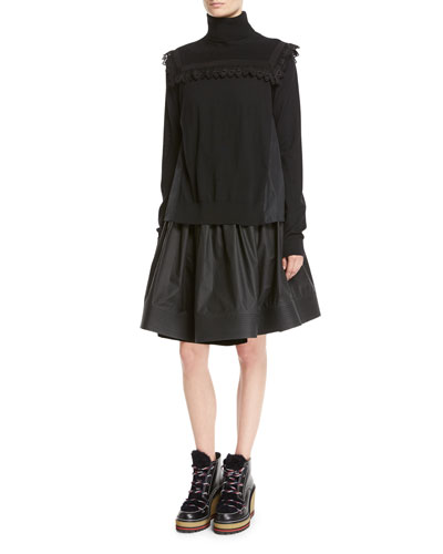 High-Waist Pleated Circle Skirt and Matching Items