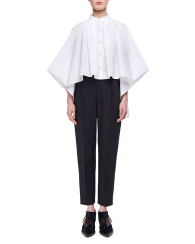 Cotton Poplin Cape Blouse and Matching Items