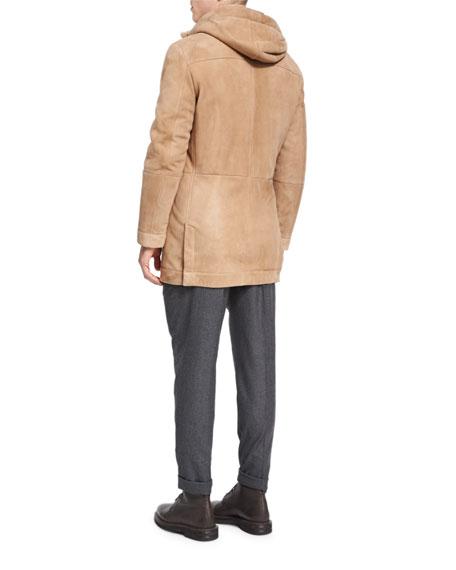 Wool-Cashmere-Silk Knit Overshirt