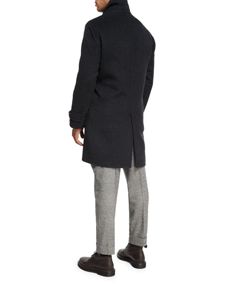 Wool-Cashmere-Silk Knit Overshirt