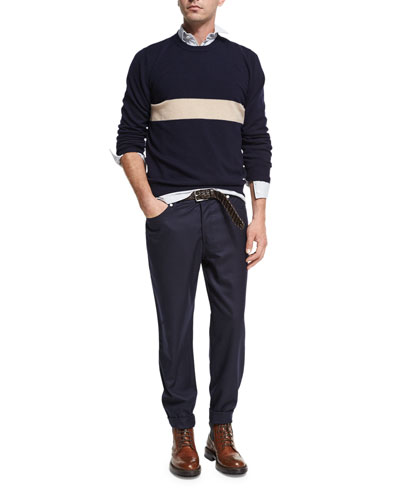 Striped Cashmere Crewneck Sweater and Matching Items