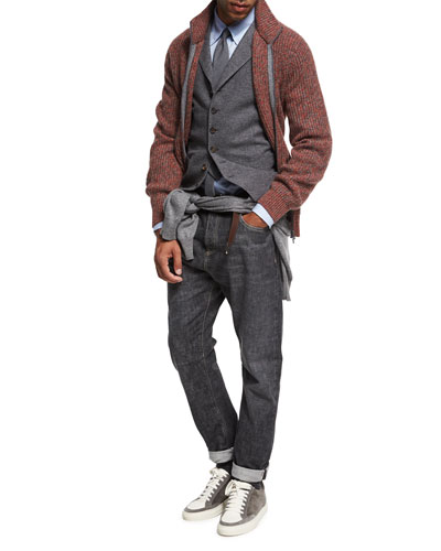 Selvedge Denim Leisure-Fit Jeans and Matching Items