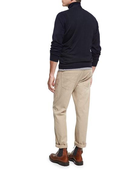 Fine-Gauge Wool-Cashmere Cardigan Vest