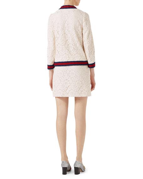 Cluny Lace Jacket with Web, White