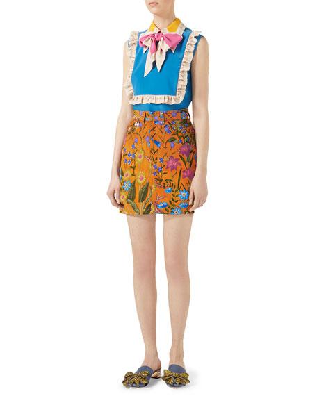 New Flora Print Mini Skirt
