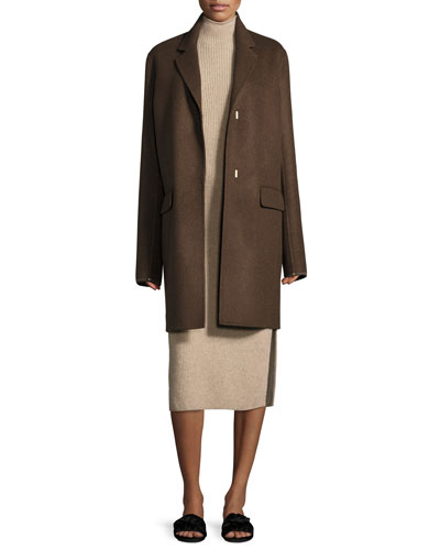 Nesper Hook-Front Wool Coat and Matching Items