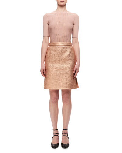 Metallic High-Rise Straight Skirt, Copper and Matching Items