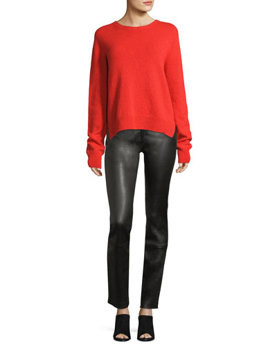 Maddly Leather Straight-Leg Pants and Matching Items