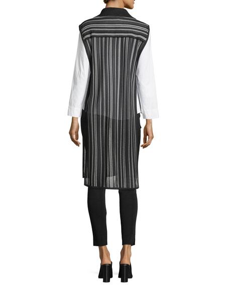 Vertical Lines Drama Vest