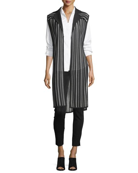 Long-Sleeve Stretch-Cotton Shirt, Plus Size