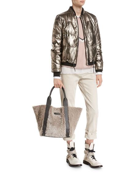 Cashmere Pullover with Monili Alpine Stripe