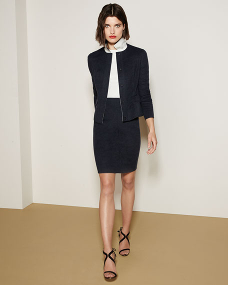 Sleeveless Reversible Bicolor Wool Dress