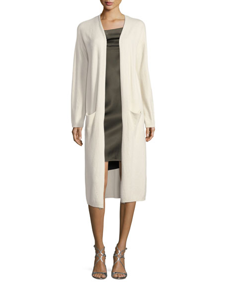 Long-Sleeve Open-Front Duster Cardigan