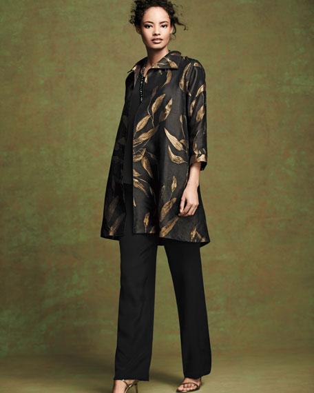 Gold Leaf Jacquard Party Jacket, Petite