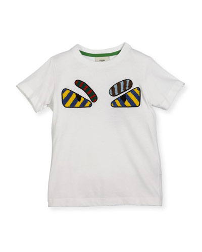 Boys' Short-Sleeve Embroidered Monster Eye T-Shirt, Size 3-5 and Matching Items