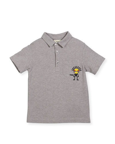 Boys' Short-Sleeve Polo with Light Bulb Detail, Size 10-14 and Matching Items