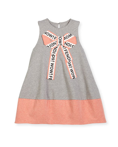 Girls' Sleeveless Logo Bow Dress, Size 3-5 and Matching Items