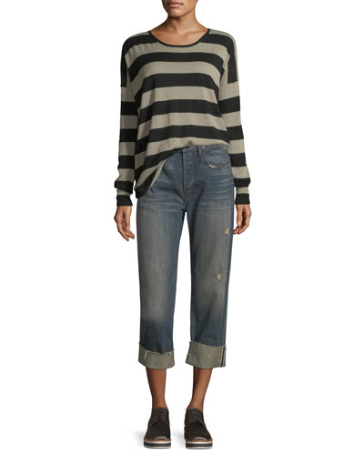 Cuffed Union Slouch Jeans and Matching Items