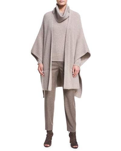 Wool-Cashmere Sweater with Removable Cowl-Neck and Matching Items