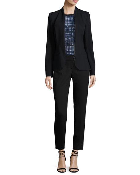 Zip-Around Jersey Jacket
