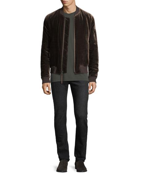 Men's Velvet Bomber Jacket
