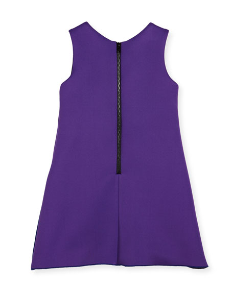 Preppy Perfect Colorblock Shift Dress, Purple, Size 4-6X