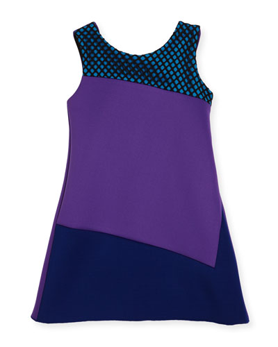 Preppy Perfect Colorblock Shift Dress, Purple, Size 4-6X and Matching Items