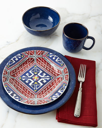 Puro Dappled Cobalt & Tangier Dinnerware