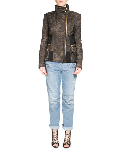 Quilted Camouflage Zip Jacket and Matching Items