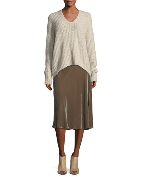 Deep V-Neck Pullover Sweater
