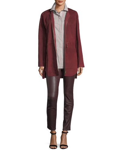 Linea Zip-Front Suede Jacket and Matching Items