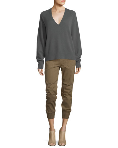 Deep V-Neck Cashmere Sweater  and Matching Items