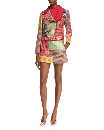 Patchwork Tweed Miniskirt and Matching Items