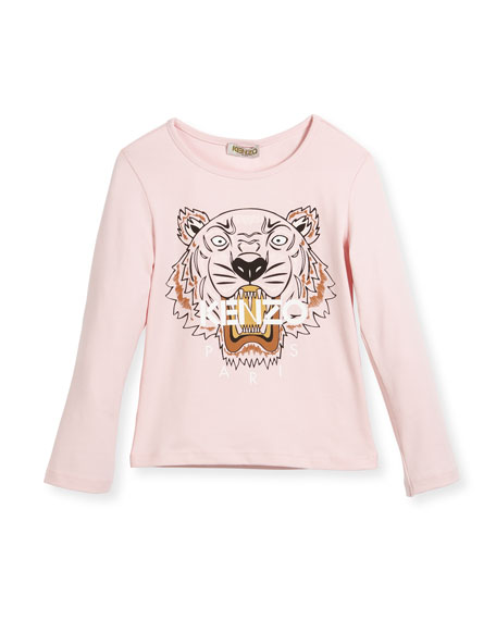 Long-Sleeve Tiger T-Shirt, Size 4-6