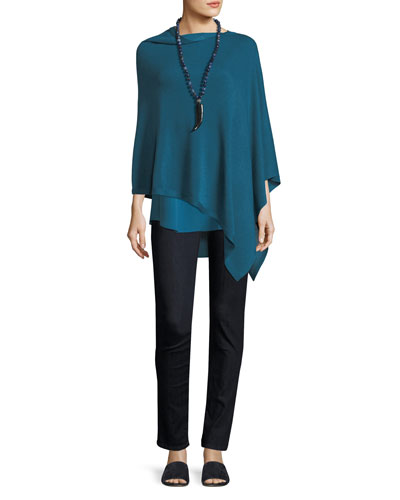 Sleek Tencel®/Merino Poncho and Matching Items